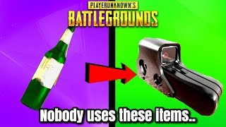 10 Most USELESS Items In PUBG! (these will surprise you)