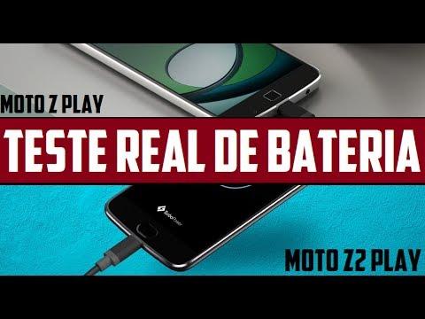 Teste Real de Bateria Moto Z2 Play Vs Moto Z Play Executando vídeo em 4K