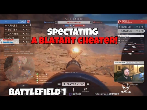 Spectating A Blatant Hacker in Battlefield One | BF1 Gameplay [AIMBOT]