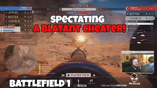 Spectating A Blatant Hacker in Battlefield One   BF1 Gameplay [AIMBOT]