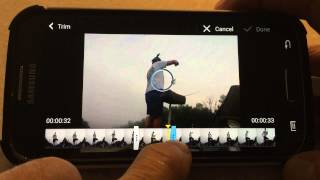 Trim Android video clips