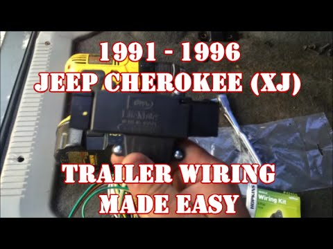 hqdefault 1991 1996 jeep cherokee xj trailer wiring made easy youtube 1998 jeep cherokee trailer wiring harness at virtualis.co