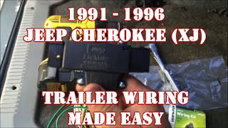 1991 - 1996 JEEP CHEROKEE XJ TRAILER WIRING MADE EASY
