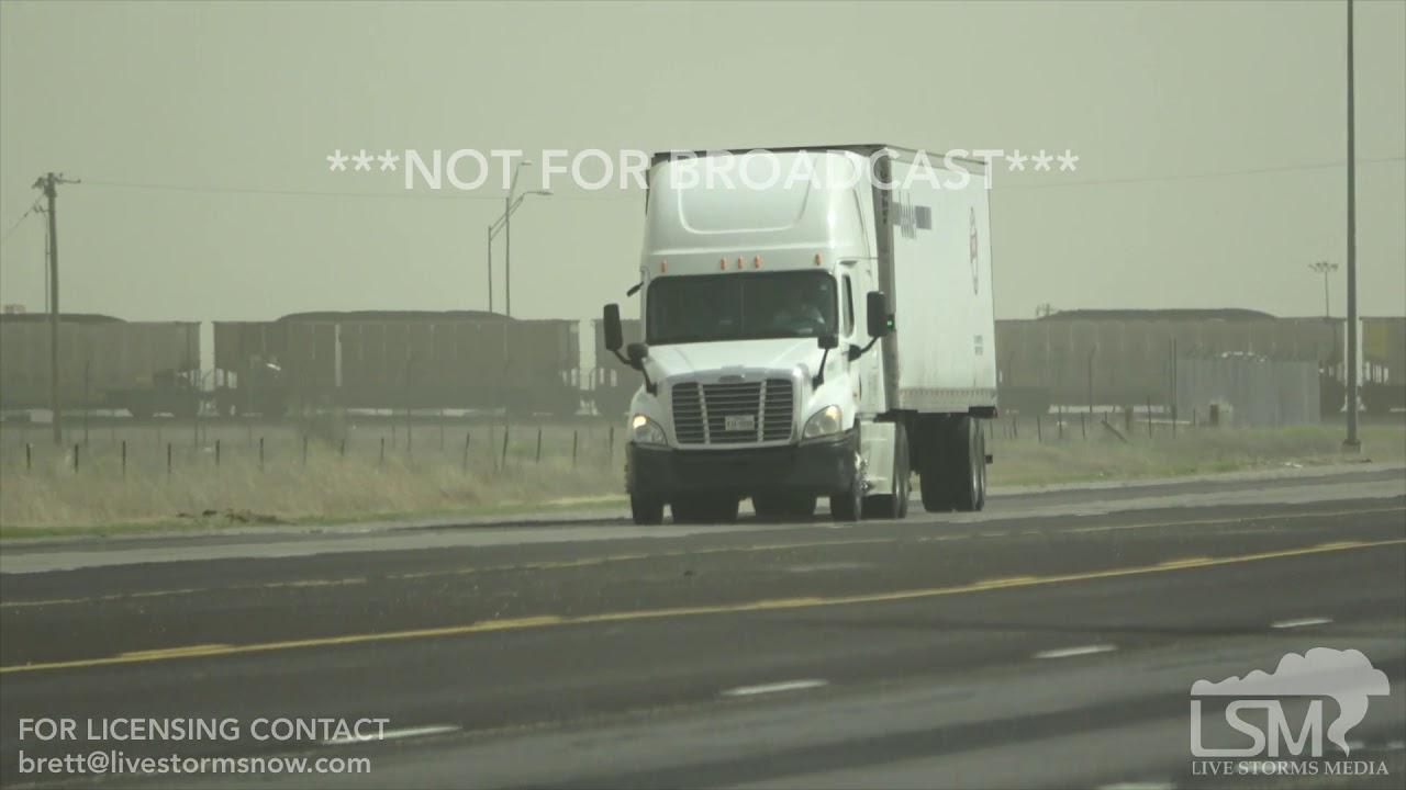 4-10-19, Semi Truck Wreck on Video, Amarillo TX