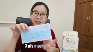 Proper way to wear a 3-ply mask