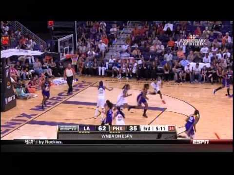 Phoenix Mercury vs. Los Angeles Sparks  June 23, 2012 (Full Game) Prahalis scores WNBA career high