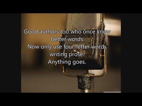 Anything Goes - Cole Porter - Lyrics - Fallout 3