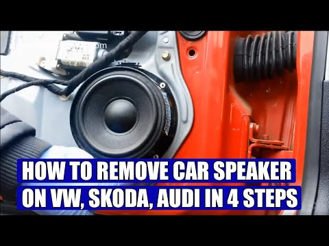 How to remove VW, Skoda, Audi, car speakers in 4 simple steps - YouTube