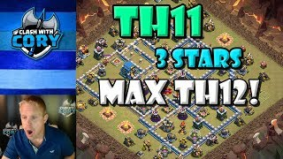 *AMAZING* TH11 vs MAX TH12 3 Star Attack! | CLASH OF CLANS