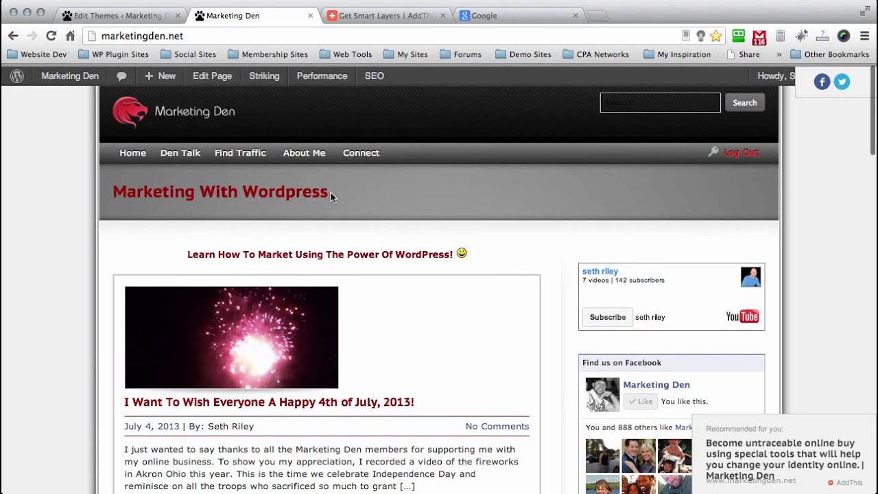 Add Social Sharing And Follow Buttons To Wordpress Blog