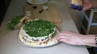 Сборка салата-торта