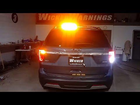 2019 Ford Explorer Emergency Vehicle Warning Lights Install