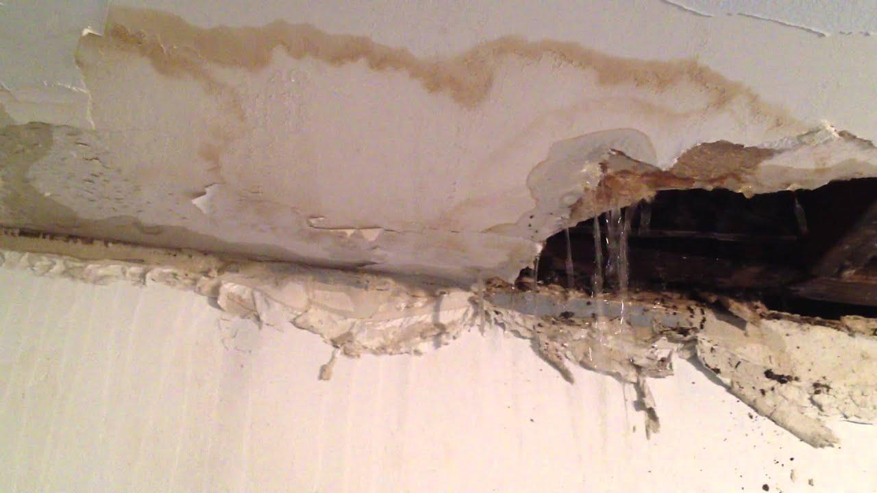 Bathroom ceiling leak.