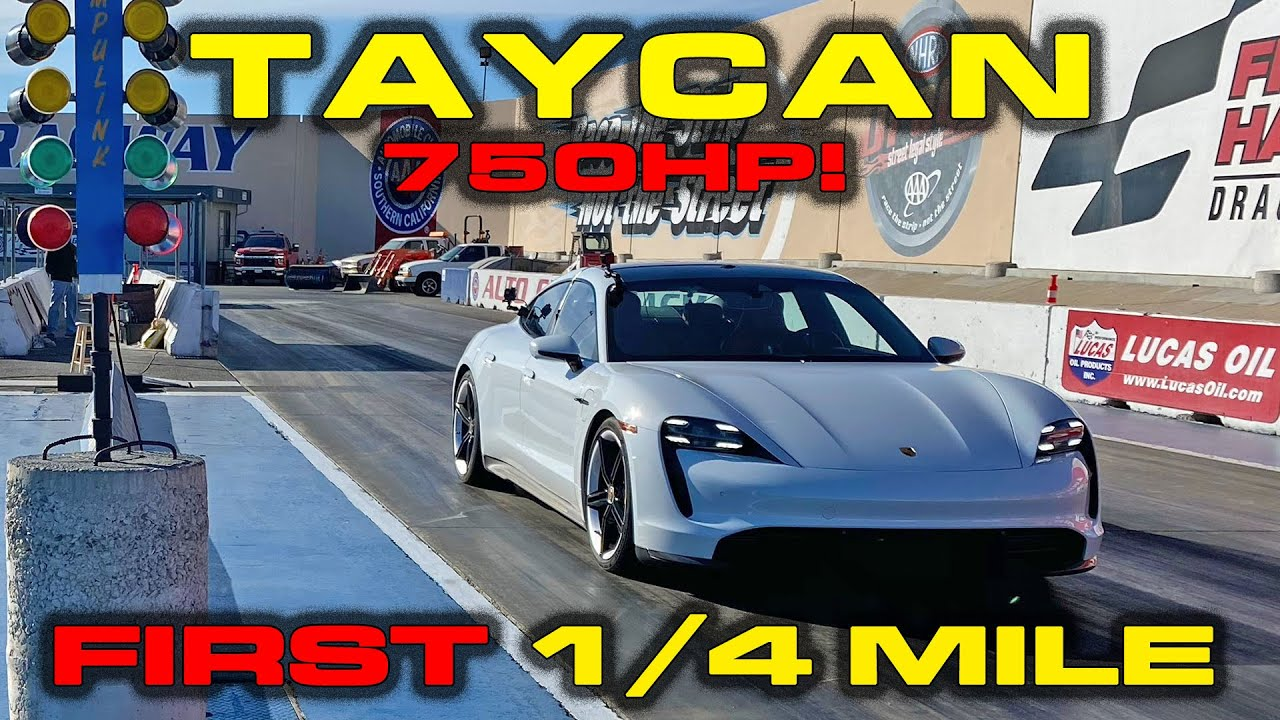 Exclusive First Real 1 4 Mile Runs Porsche Taycan Turbo S 0 60 Mph In 2 4 Youtube