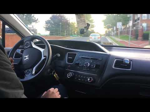 Driving 2014 Civic LX 5 Speed