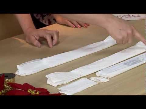 Aprenda a fazer uma guirlanda de natal com saquinhos plásticos