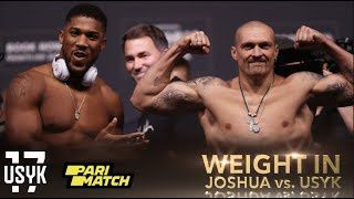 Joshua Vs. Usyk Weight  N Face To Face