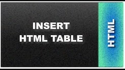 HTML Web Design Tutorials: HTML Insert Table Lesson 17