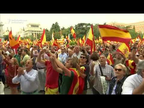 Madrid Demonstrators Chant 'Catalonia Is Spain!'
