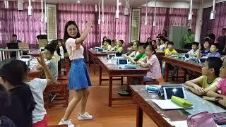 Урок английского языка в общеобразовательной школе 怡园小学 Китая, 4-ый класс, применение ИКТ