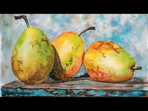 LIVE: Watercolor Pears 12:30pm Eastern Time FREE Painting Class!