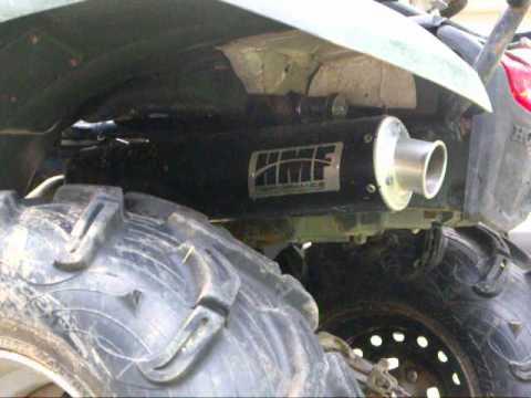 honda rancher 420 hmf performance series exhaust