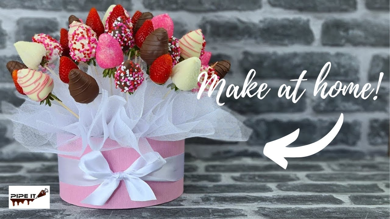 Diy Pink Strawberry Bouquet Youtube