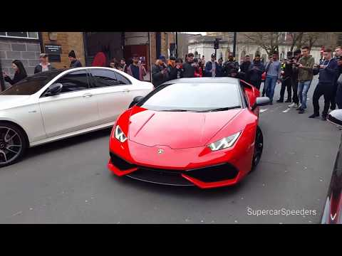Supercars Leaving Car Meet Launches, Wheelspins Birmingham 2018