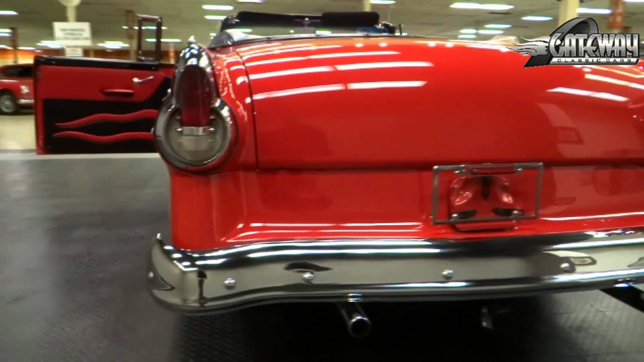 1955 ford fairlane sunliner convertible for sale at gateway classic cars in st louis mo youtube. Black Bedroom Furniture Sets. Home Design Ideas