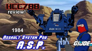 HCC788 - 1984 A.S.P review! Vintage G.I. Joe toy review!