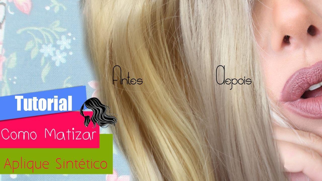 Super Como Matizar e Platinar um cabelo Sintético ? Muito fácil com  KU21