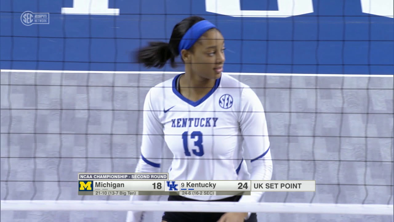 Vb Kentucky 3 Michigan 0 Ncaa Second Round Youtube