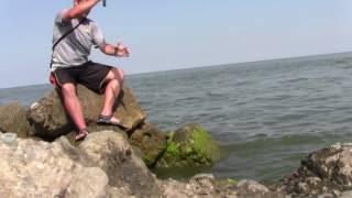 Рыбалка на Азовском море, г.Ейск.Ловля бычка на Азовском море в Ейске.