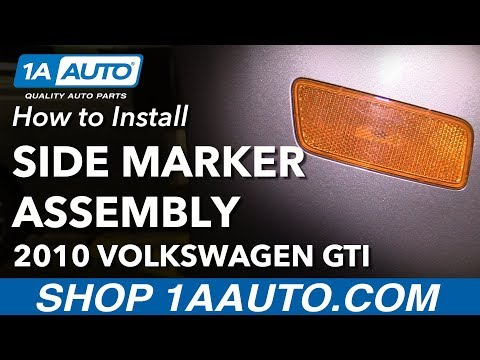 How to Replace Side Marker Housing 10-14 Volkswagen GTI