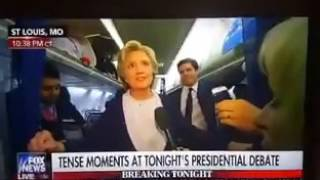 hillary has another seizure on the plane after 2nd debate