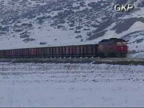 FREIGHT TRAINS AT DOMOKOS UNDER SNOW ATTACK