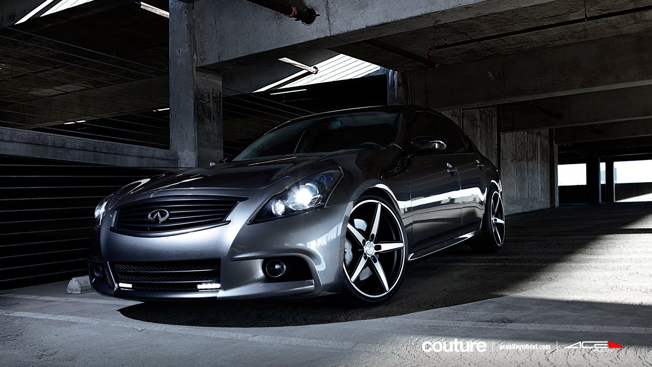 Infiniti g37 sedan on 20 ace couture wheels rims youtube vanachro Choice Image