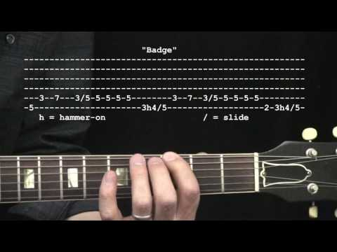 """Badge"" by Eric Clapton & George Harrison : 365 Riffs For Beginning Guitar !!"