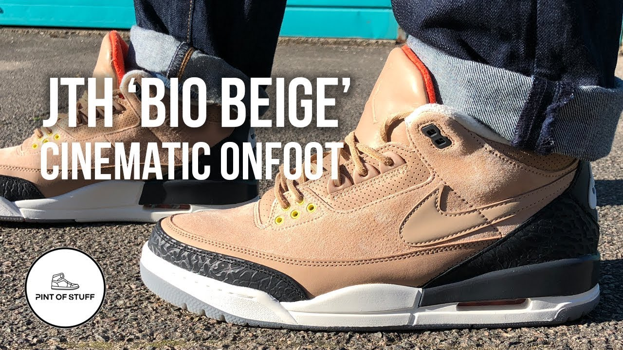 "048ac7491200 Jordan 3 JTH ""Bio Beige"" Cinematic On-foot Look with Mr B - YouTube"