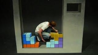 Repeat youtube video Tetris Stop Motion 3D Chalk Art - AWE me Artist Series