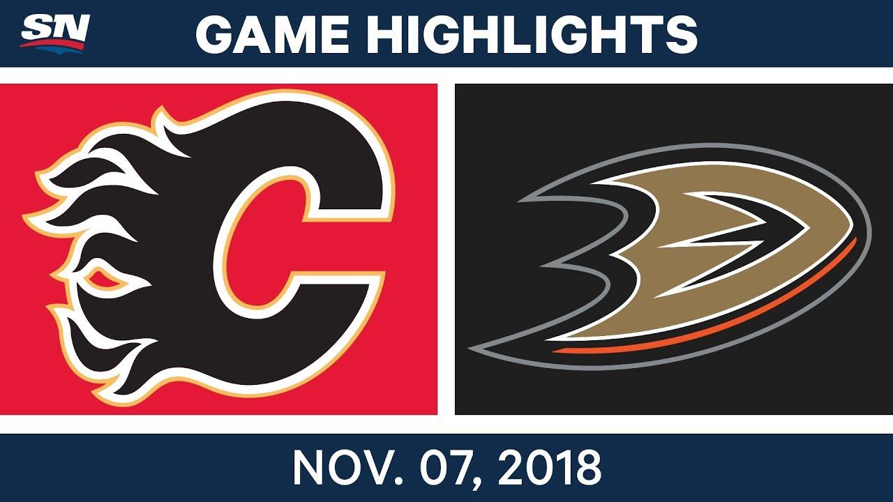 Nhl Highlights Flames Vs Ducks Nov 7 2018 Youtube