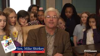 Sen. Shirkey speaks on the importance of March is Reading Month