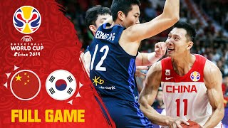 China narrowly defeat Korea - Full Game - FIBA Basketball World Cup 2019