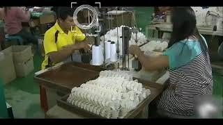 Как делают воланы для бадминтона в Китае