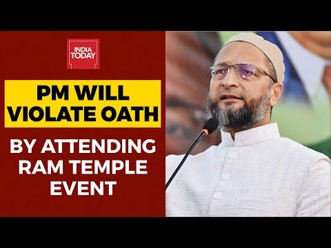 aimim-leader-asaduddin-owaisi-slams-pm-modi-for-plans-to-attend-ram-temple-puja-event