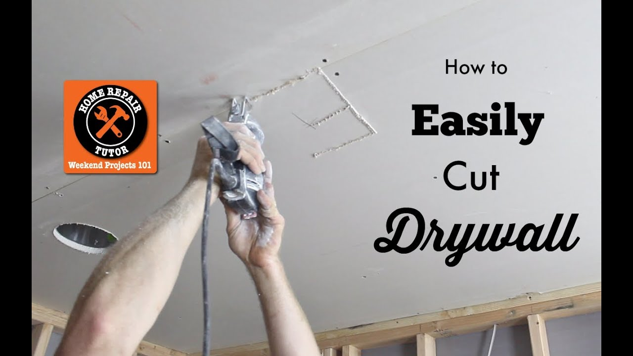 How To Cut Drywall Cutting Out Electrical Outlets And