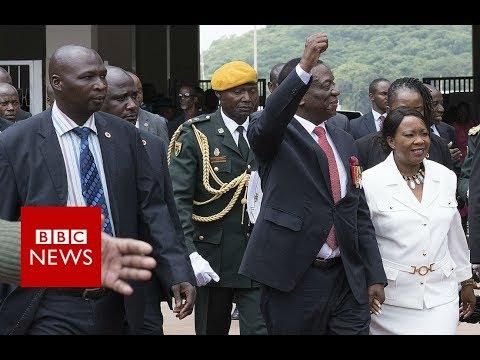 Zimbabwe Inauguration: Mnangagwa becomes Zimbabwe's president - BBC News