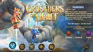 Crusaders Of Light New Class [ELEMENTALIST] Gameplay (OPEN WORLD MMORPG) Android/IOS