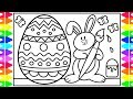 How to Draw Easter Eggs and Easter Bunny Step by Step for Kids 🐰🌈🌸 Easter Coloring Pages for Kids