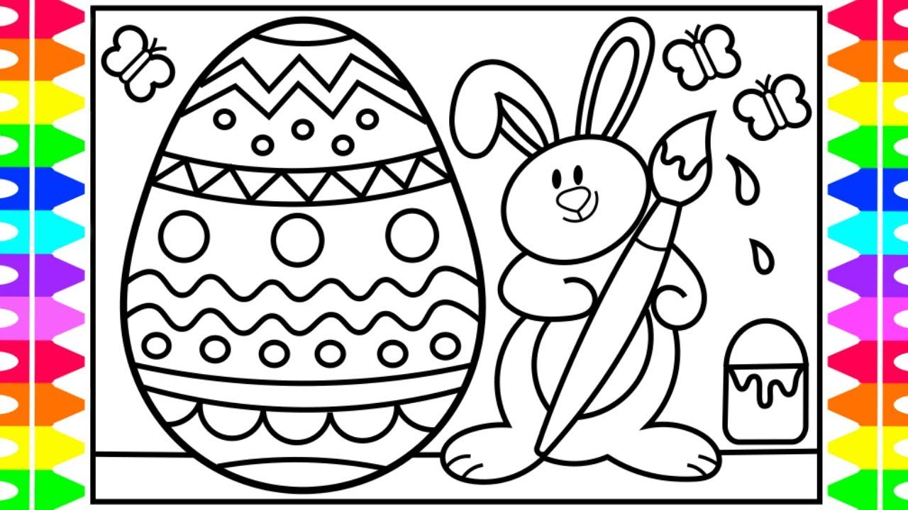 How To Draw Easter Eggs And Bunny Step By For Kids